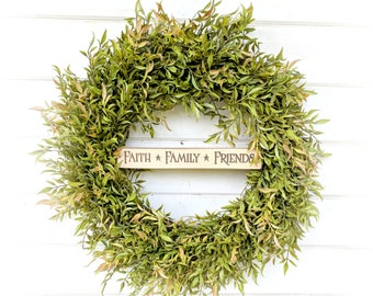 Fall Wreath-Greenery Wreath-Door Sign-Farmhouse Decor-Fall Door Wreath-Autumn Wreath-Door Sign-Wreaths-Housewarming Gift-Door Decor-Gifts