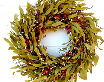 Fall Wreath-FALL TWIG Wreath-Autumn Door Wreath-Rustic Wreath-Fall Home Decor-Scented Pumpkin Spice-Fall Wreaths-Custom Made Wreaths-Gifts