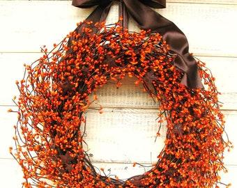 Fall Wreath-Fall Decor-Halloween Decor-PRIMITIVE RUSTY STARS-Thanksgivig Decor-Autumn Door Decor-Holiday Wreath-Scented Wreath-Custom Made
