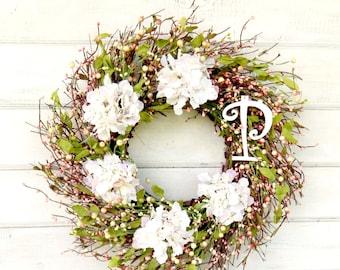 Wedding Decor-Weddings-Wedding Wreaths-MONOGRAM Wreaths-Scented Wreaths-Door Decor-Spring Door Wreath-Gift for Mom-Housewarming Gift-Wedding
