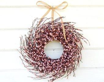 Mini Wreath-Pink Wreath-MINI Twig Wreath-PINK Mini Window Wreath-Wreaths-Baby Nursery-Baby Gift-Its a Girl-Pink Decor-Wall Decor-Gifts