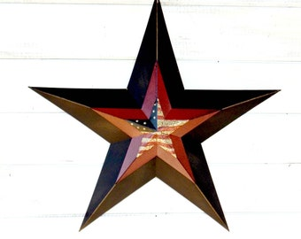 Star Decor-PRIMITVE BARN STAR- Patriotic Star-Rustic Wall Hanging-Rustic Star Decor-Primitive Home Decor-Holiday Door Decor-Military Decor