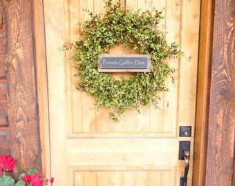Summer Door Wreath-Eucalyptus Wreath-Summer Home Decor-Farmhouse Wreath-Door Sign-Housewarming Wreath-Holiday Wreath-Outdoor Wreath-Gift