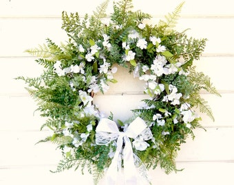 Wedding Decor-Bridal Wreath-Wedding Wreath-Fall Weddings-Winter Weddings-Wreath for Chapel Doors-Farmhouse Wedding Decor-Shabby Chic Wedding