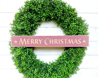Christmas Wreath-BOXWOOD Wreath-Winter Wreath-LARGE Boxwood Wreath-Entryway Wreath-Fireplace Wreath-Holiday Wreath-Farmhouse Decor-Gifts