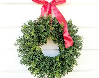 MINI Boxwood Wreath-NEW ENGLAND Boxwood-Window Wreath-Boxwood Wreath-Window Wreath-Artificial Boxwood Wreath-Wall Hanging-Small Wreath