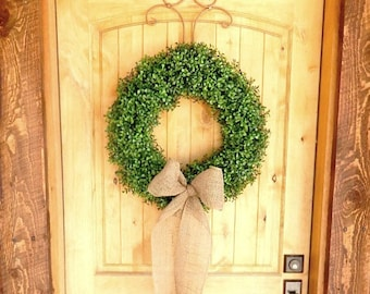 Boxwood Wreath-Summer Wreath-Large Door Wreath-Boxwood Door Wreath-Housewarming Gift-Holiday Home Decor-Holiday Boxwood Wreath-Gifts