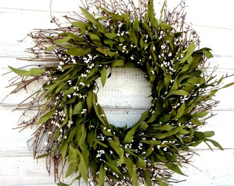 Farmhouse Decor-Spring Wreath-Summer Wreath-Winter Wreath-Rustic Twig Wreath-Door Decor-Home Decor-Housewarming Gift-Year Round Wreath-Gifts