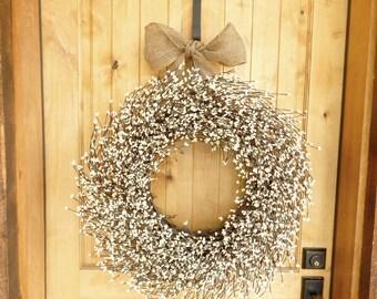 Etonnant Winter Wreath Christmas Wreath Cedar Wreath Large CEDAR Door   Etsy