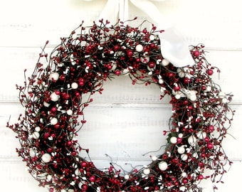 Valentines Day Wreath-Winter Wreath-Valentines Day Decor-Holiday Wreath-Summer Door Wreath-4th of July Decor-SCENTED Wreath-Custom Made Gift