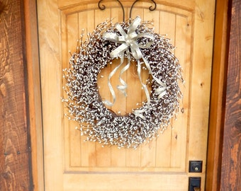 Wedding Wreath-Wedding Decor-White Wreath-Fireplace Wreath-Holiday Wreath-Wedding Wreath-Winter Wedding-Mantle Wreath-Bridal Wreath-Gifts
