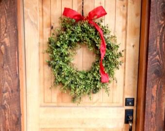 Summer Wreath-EUCALYPTUS Wreath-Farmhouse Decor-Summer Door Wreath-Spring Wreath-Fall Wreath-Year Round Wreath-Outdoor Wreath-Gift for Mom