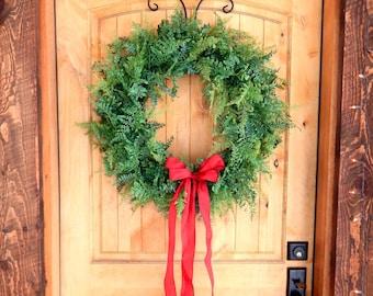 Christmas Wreath-FERN Wreath-Winter Wreath-Winter Home Decor-Scented Wreath-Holiday Door Wreaths-Wedding Decor-Outdoor Wreath