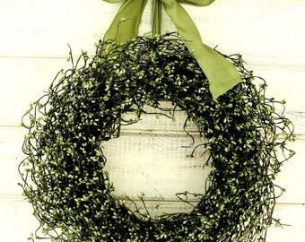 Spring Wreath-Summer Wreath-Farmhouse Door Wreath-Rustic SAGE GREEN Door Wreath-SCENTED Wreath-Rustic Home Decor-Housewarming Gift