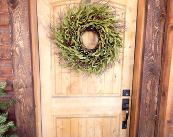 Winter Door Wreath-Rustic Home Decor-Twig Wreath-Fall Twig Wreath-Summer Wreath-SCENTED Wreaths -Custom Wreaths- Housewarming Gifts-Made USA