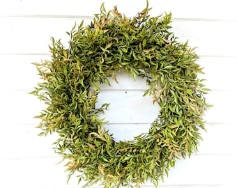 Fall Wreath-Greenery Wreath-Autumn Decor-Fall Door Wreath-Farmhouse Decor-Fall Decor-Outdoor Wreath-Front Door Wreath-Housewarming Gift