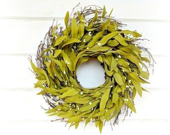 MINI Bay Leaf Wreath-Fall Door Wreath-Winter Wreath-Wall Hanging-Farmhouse Decor-Scented Wreaths-Custom Made-Gift for Mom-Holiday Home Decor
