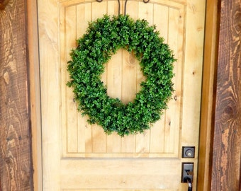 BOXWOOD Wreath-Large Boxwood Wreath-Fall Wreaths-Winter Wreath-Year Round Wreath-Rustic Home Decor-Outdoor Wreath-Scented Wreaths-Gifts