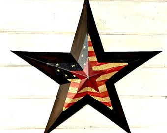 Star Home Decor-Star Wall Hanging-PRIMITVE Americana BARN STAR- Patriotic Star-Rustic Wall Hanging-Rustic Star Decor-Primitive Home Decor