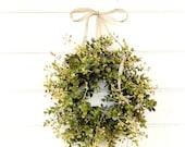 Farmhouse Wreath-MINI Window Wreath-Eucalyptus Wreath-Farmhouse Decor-Country Cottage Wreath-Artificial Eucalyptus Wreath-Small Wreath-Gifts