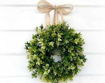 Mini Boxwood-Mini Window Wreath-Boxwood Wreath-Farmhouse Decor-Spring Wreath-Wall Decor-Home Decor-Housewarming Gift- Custom Scented Wreath