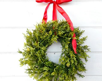 READY to SHIP-MINI Window Wreath-Tea Leaf Wreath-Mini Farmhouse Wreath-Wreaths-Small Wreath-Wall Hanging-Small Wreath-Custom Made Gifts