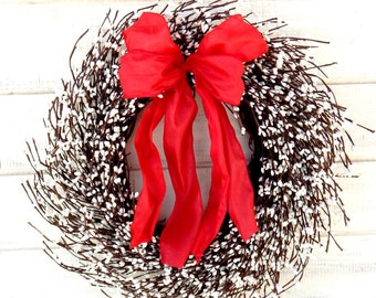 Valentines Day Wreath-Valentine Wreath-Valentines Decor-Winter Wreath-Wedding Wreath-Housewarming Gift-Wedding Gift-Holiday Home Decor-Gifts