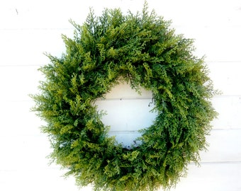 Christmas Wreath-Winter Wreath-Cedar Wreath-Large CEDAR Door Wreath-Christmas Home Decor-Holiday Home Decor-Housewarming-Outdoor Wreath