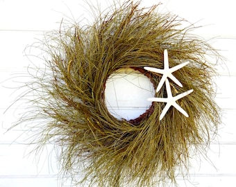 Beach Wreath-Nautical Wreath-Beach Decor-Grass Wreath-Twig Wreath-Coastal Wreath-Coastal Home Decor-Housewarming Gift-Rustic Twig Wreath