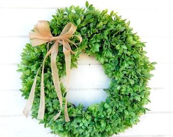 Farmhouse Decor-Greenery Wreath-Outdoor Wreath-Lemon Leaf WREATH-Farmhouse Wreath-Spring Wreath-Summer Wreath-Front Door Wreath-Wreaths-Gift