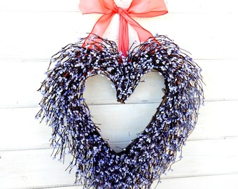 Valentine Wreath-Mother's Day Gift-Valentines Day Wreath-Wedding Decor-Wedding Heart Wreath-Spring Weddings-Valentine Wreath-Gift for Mom