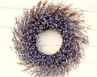 Spring Wreath-Spring Door Decor-Shabby Chic TWIG Wreath-PURPLE Twig Wreath-Country Chic Home Decor-SCENTED Wreath-Gift for Mom-Door Decor