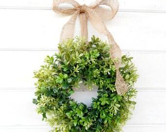 Mini Boxwood-Mini Window Wreath-Boxwood Wreath-Holiday Wreath-Spring Wreath-Wall Hanging-Home Decor-Housewarming Gift- Custom Scented Wreath