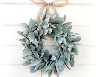 Mini Lambs Ear Wreath-Mini Window Wreath-Lambs Ear Wreath-Small Wreath-Winter Wreath-Spring Wreath-Wall Decor-Home Decor-Housewarming Gift