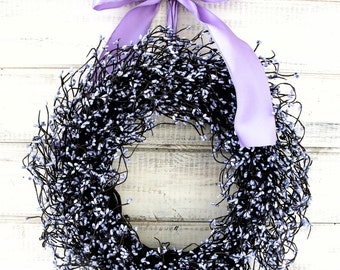 Spring Wreath-Easter Wreath-LAVENDER Door Wreath-Summer Wreath-Spring Home Decor-Wedding Wreath-Gift for Mom-Shabby Chic Wedding Decor