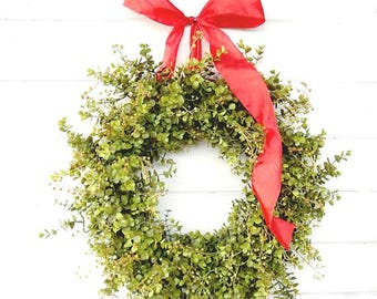 Fixer Upper Decor-Year Round Wreath-EUCALYPTUS Wreath-Holiday Door Wreath-Farmhouse Decor-Year Round Wreath-Weatherproof Wreath-Gift for Mom