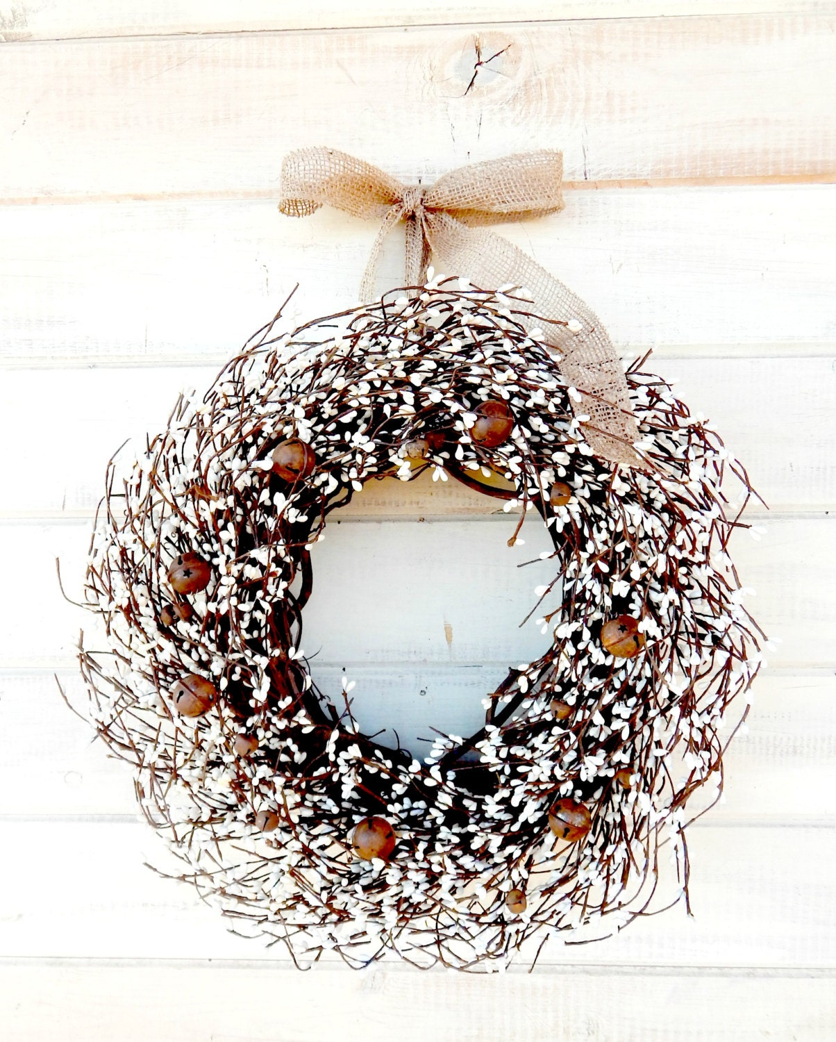 Rustic Primitive Wreath Winter Home Decor