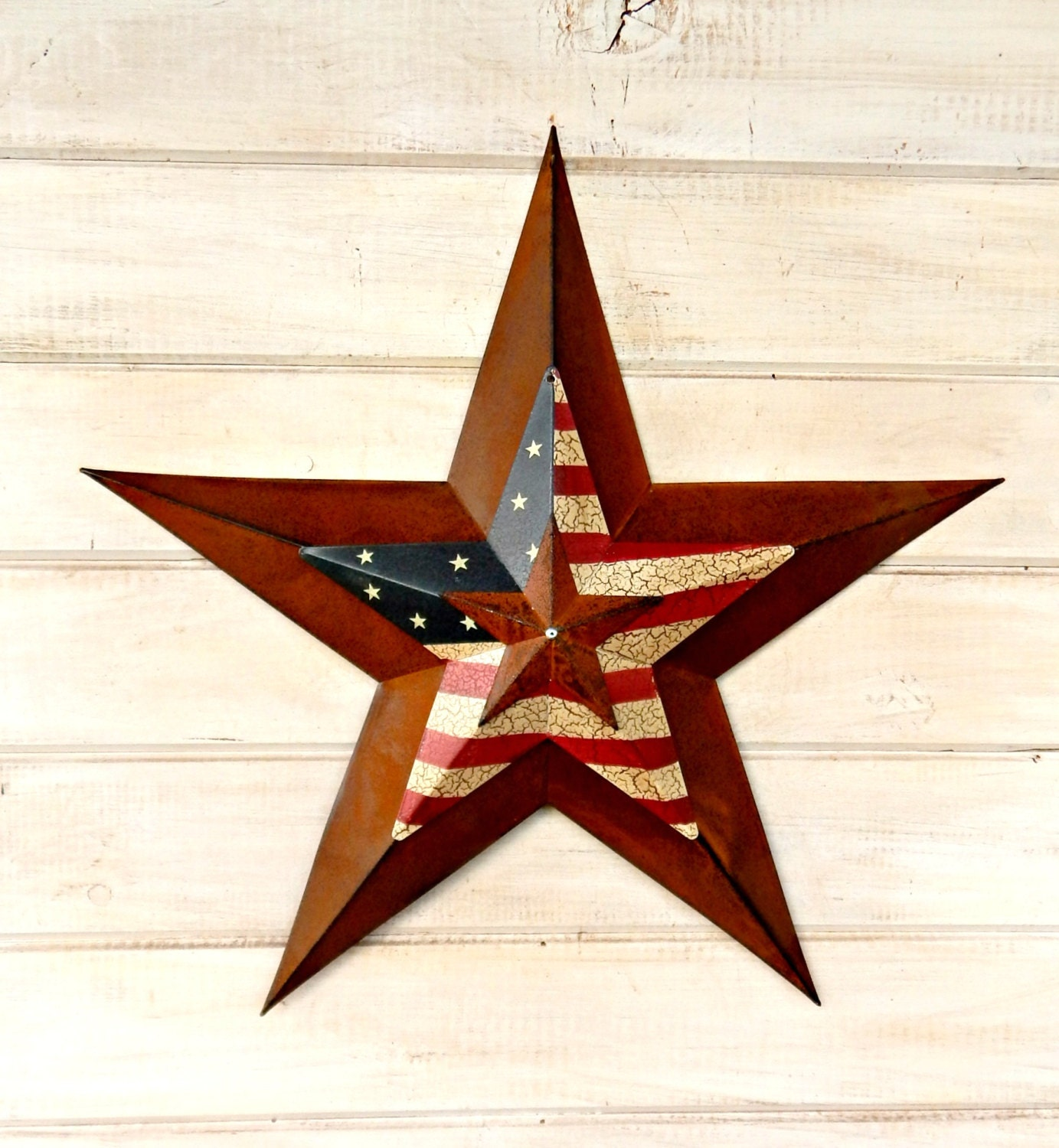 Star Home Decor Wall Hanging PRIMITVE American BARN