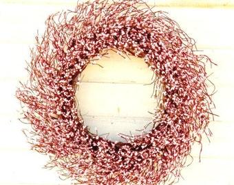 Valentines Day Wreath-Valentine Wreath-LARGE Pink Wreath-PINK Berry Wreath-Wedding Wreath-Pink Decor-Spring Wedding-Girls Bedroom Decor