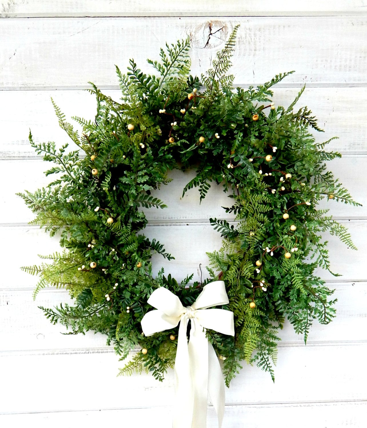Wedding Wreath Winter Wedding Spring Wreaths Fern