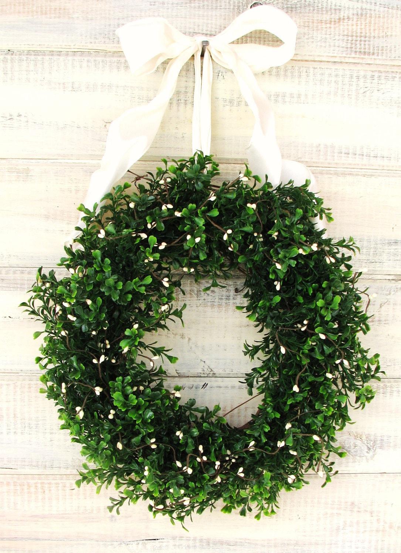 X Large Country Cottage Boxwood Wreath Boxwood Wreath