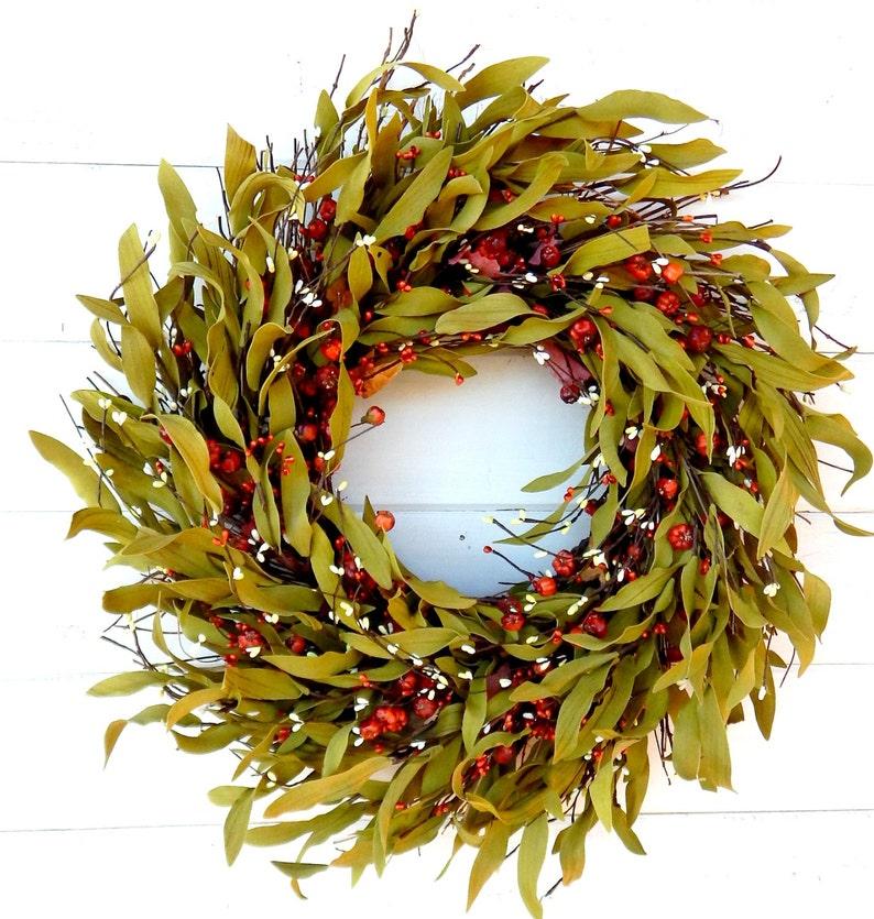 Fall Wreath-FALL TWIG Wreath-Farmhouse Door Wreath-Rustic image 0