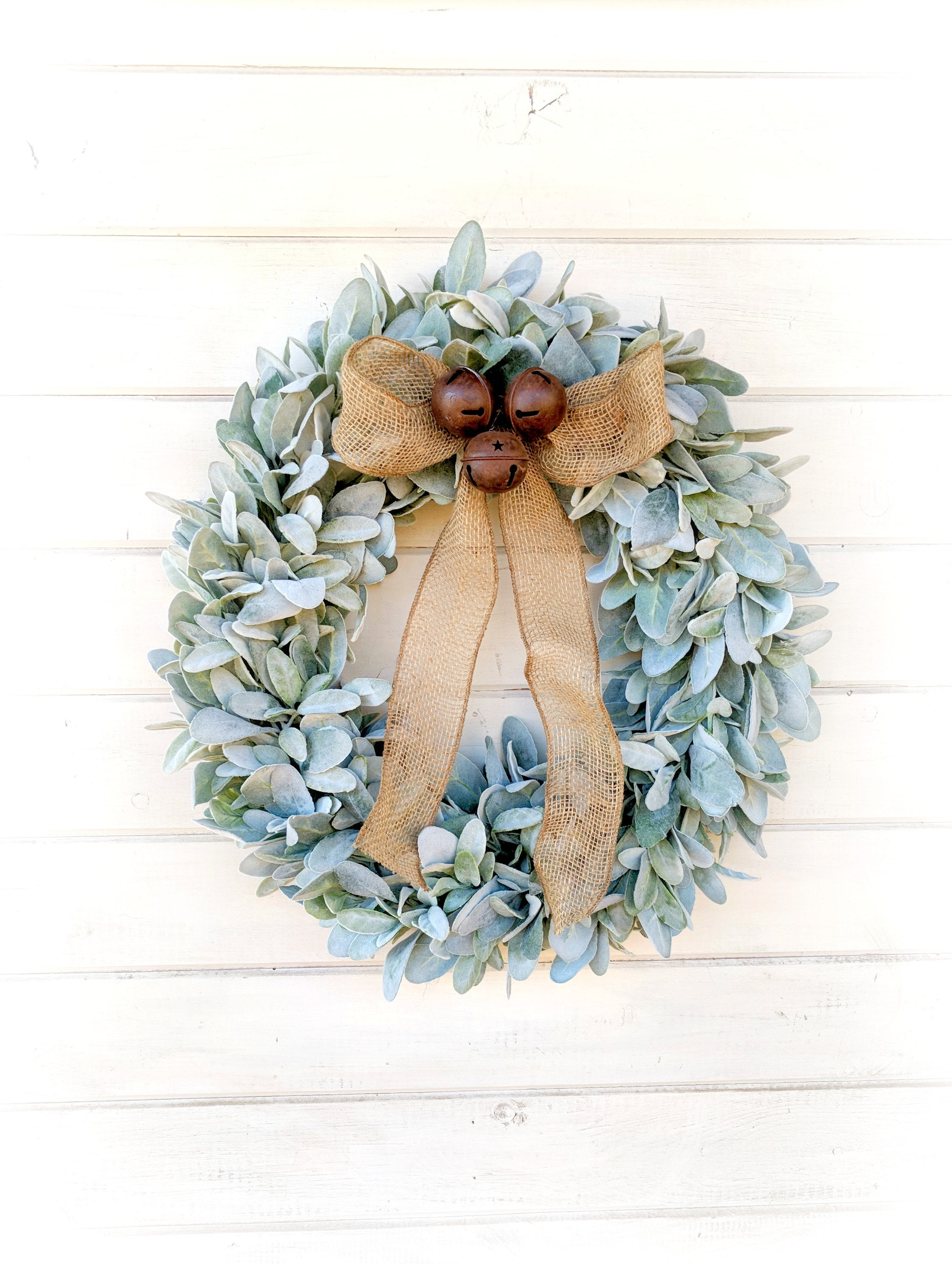 Christmas Wreath-Holiday Front Door Wreath-Christmas Decor-Farmhouse ...