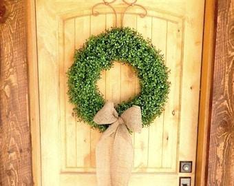 Boxwood Wreath-Summer Wreath-Large Door Wreath-Boxwood Door Wreath-Housewarming Gift-Holiday Home Decor-Holiday Boxwood Wreath-Gifts