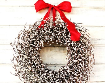 Summer Wreath-Summer Home Decor-White Wreath-Winter Wreaths-Holiday Wreath-WHITE WREATH-Winter Home Decor-Wreaths-Housewarming Gifts-For Mom