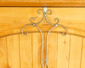 WREATH HANGER-Door Hanger-Door Wreath Hanger-Rustic Home Decor-Custom Colors-Choose Your Color