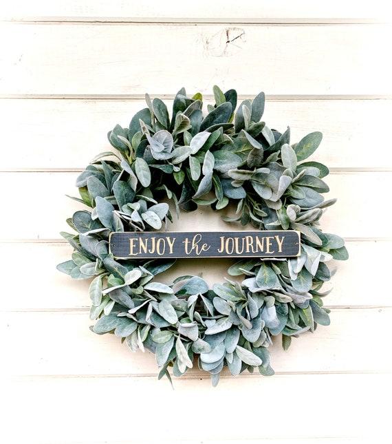 Farmhouse Wreath-Lambs Ear Wreath-Ranunculus Wreath-Fixer Upper Decor-Farmhouse Decor-Housewarming Gift-Greenery Wreath-Wreaths-Home Decor