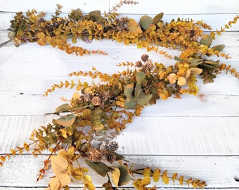 Fall Garland-Mixed Eucalyptus Garland-FALL CASCADE-Farmhouse Décor-Greenery-Fall Garland-Weddings-Centerpiece-Wedding Décor-Table Runner