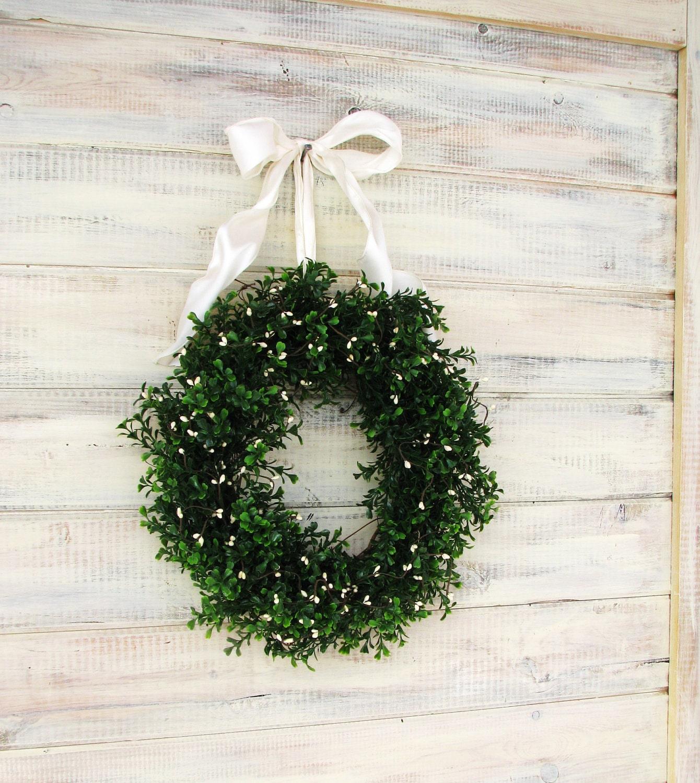 X Large Country Cottage Boxwood Wreath Boxwood Wreath Fireplace