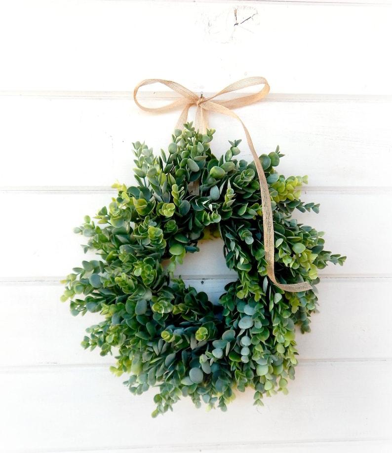 Eucalyptus Wreath-MINI Window Wreath-Farmhouse Decor-Country image 0